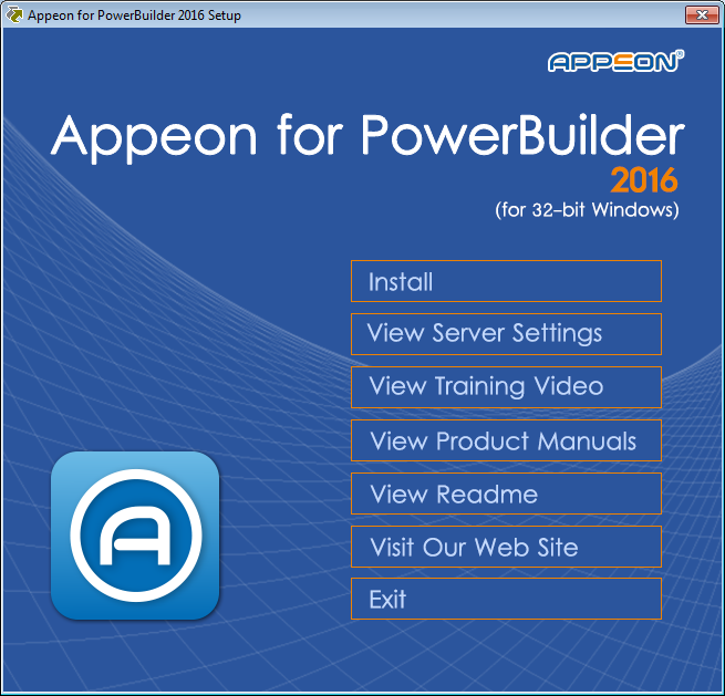 starting the installation installation guide for appeon for powerbuilder powerbuilder 12.5 installation guide PowerBuilder Java