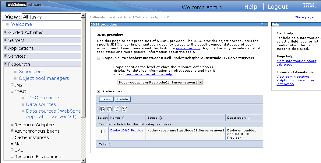 Setting up data source for WebSphere - - Appeon Server Configuration
