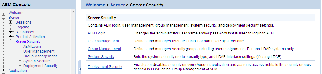 Server Security - - Appeon Server Configuration Guide for  NET