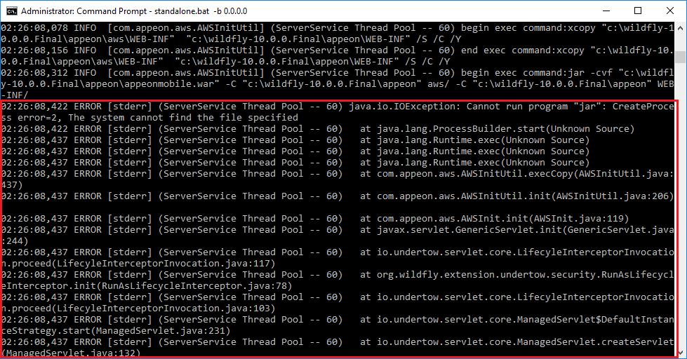 java io IOException: Cannot run program 'jar':